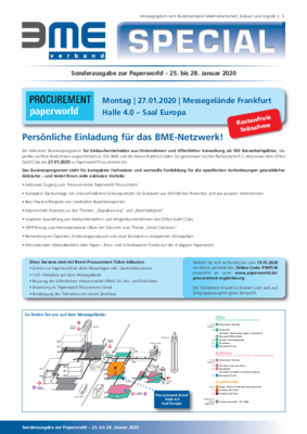 Programm der Paperworld Procurement 2020