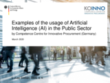 Künstliche Intelligenz (KI) in Kommunen – Usage of Artificial Intelligence (AI) in Public Sector